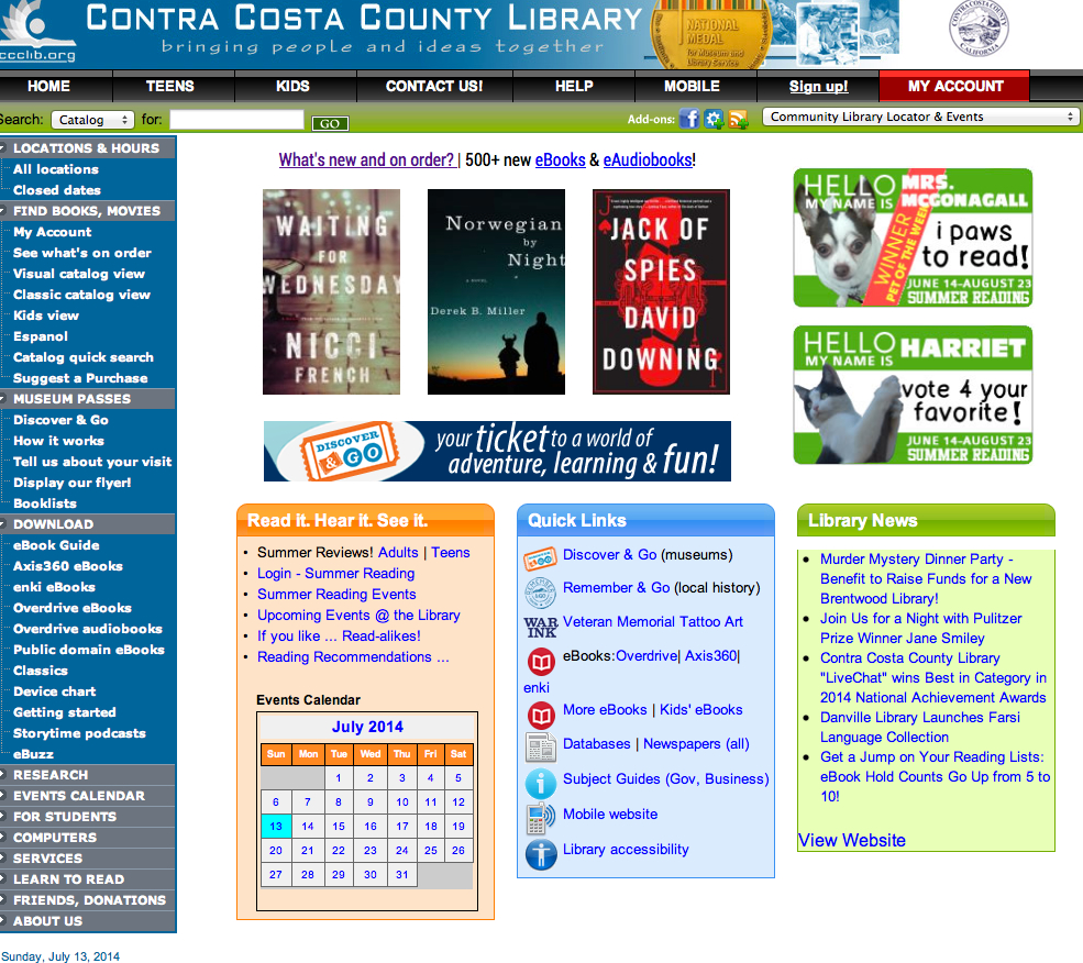 County_library home page